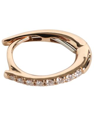 Mono-boucle d'oreille en or rose et diamants Mimi GBYG