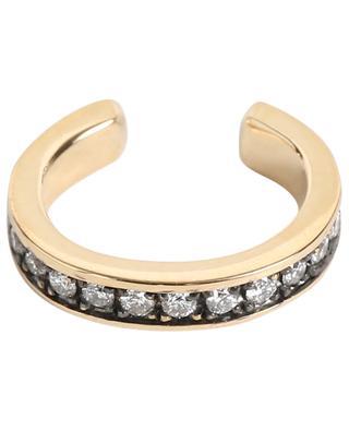 Manchette d'oreille en or jaune et diamants Cuff GBYG