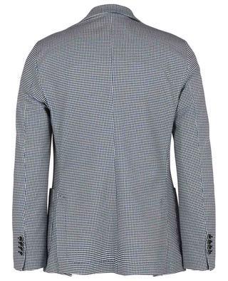 Glen check print cotton piqué blazer CIRCOLO 1901