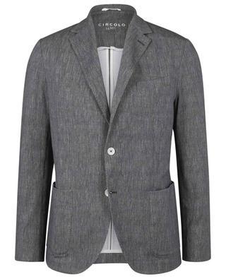 Chevron patterned slim fit blazer in jersey CIRCOLO 1901