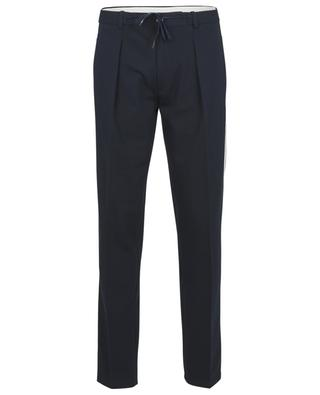 Piqué cotton trousers with side stripes CIRCOLO 1901