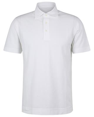 Cotton piqué stretch slim polo shirt with short sleeves CIRCOLO 1901