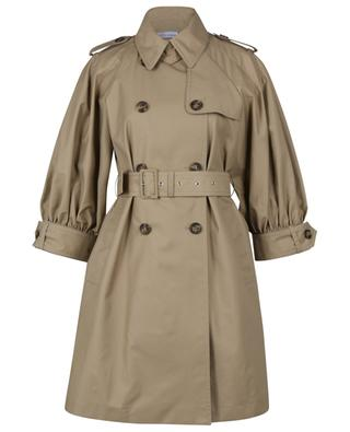 Gabardine trench coat with three-quarter puff sleeves RED VALENTINO
