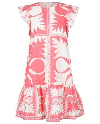 Robe courte à basque imprimée Floral Damier RED VALENTINO