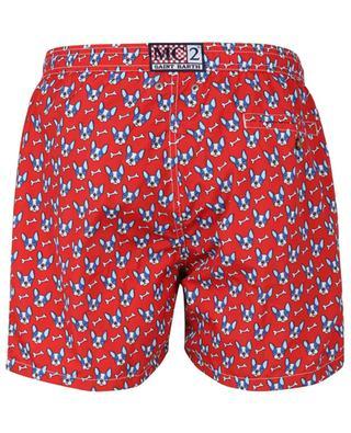 Lightning French Bulldog print swim shorts MC2 SAINT BARTH