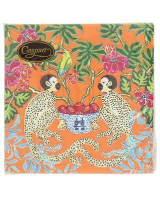 Serviettes en papier décorées Monkeys Orange CASPARI