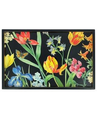 Redoute Floral lacquer vanity tray CASPARI