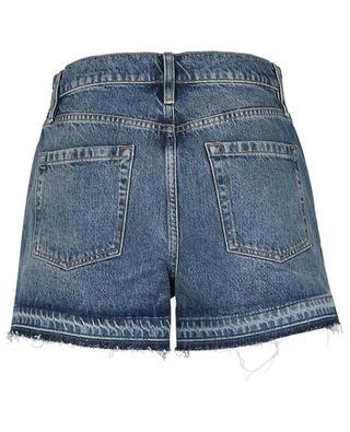 Shorts aus Denim Mosaic Flare Mesa FRAME