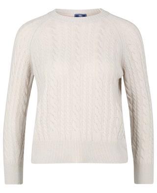 Rundhals-Pullover aus Kaschmir im Zopfstrick Panama FEDELI