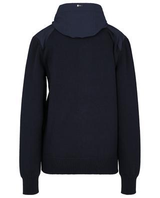 Baumwoll-Cardigan mit Knopfleiste und wasserabweisender Nylonkapuze HERNO