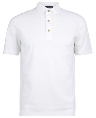 Polo shirt in fine cotton knit with short sleeves HERNO