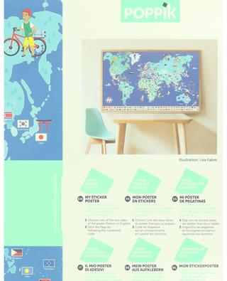 Flags of the world poster and sticker set POPPIK