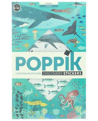 Ocean poster and sticker set POPPIK