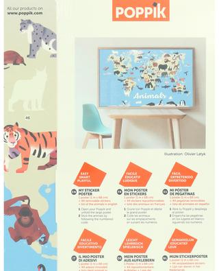 Animals of the world poster and sticker set POPPIK