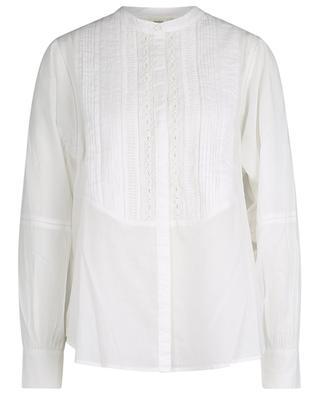 Celia shirt with pintucks and crochet lace HARTFORD