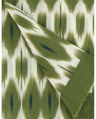 Ikat printed cotton scarf HARTFORD