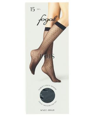 Transparente, gepunktete Kniestrümpfe FOGAL