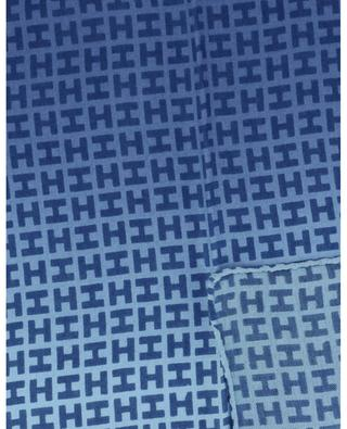 Bademini-CS pochette monogrammée en cachemire et soie HEMISPHERE