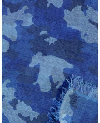 Schal aus Wolle und Leinen mit Camouflage-Print Pamousmall HEMISPHERE