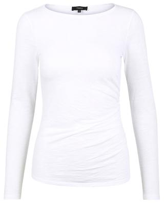 T-shirt à manches longues, col bateau et fronces Nebulous Pure THEORY