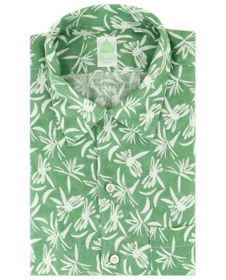 Chemise à manches courtes en lin imprimé Bart FINAMORE