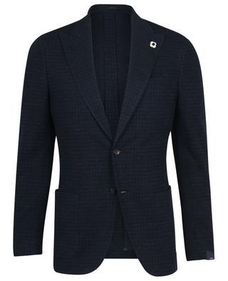 Blazer en jersey motif pied-de-poule Tessuto Esclusivo LARDINI