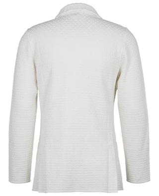 Diamond patterned cotton knit blazer LARDINI