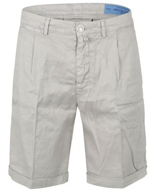 Cruise comfort linen and cotton Bermuda shorts JACOB COHEN