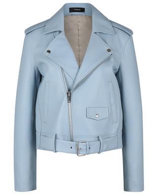 Perfecto en cuir bleu clair Casual Moto THEORY