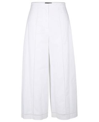 Jupe-culotte en coton à détails oeillets THEORY