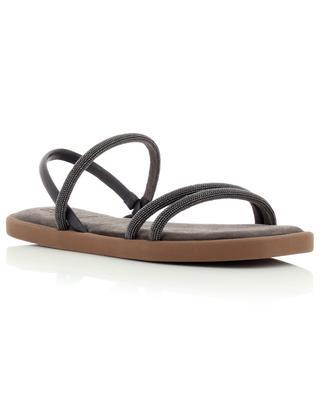Flat calfskin sandals with Monile straps BRUNELLO CUCINELLI