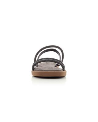 Flat calfskin sandals with Monile straps BRUNELLO CUCINELLI