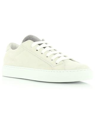 Low-top lace-up sneakers with Monile embroidered shoe tongue BRUNELLO CUCINELLI
