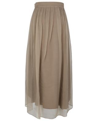 Long voluminous skirt in Crispy silk BRUNELLO CUCINELLI