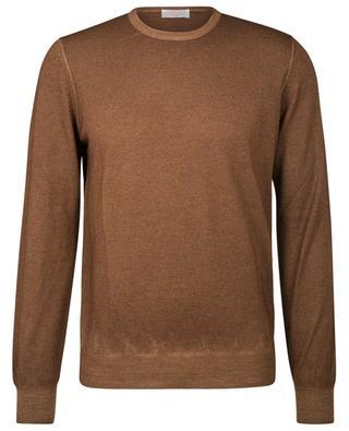 Thin jumper in virgin wool with round collar GRAN SASSO