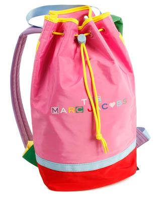 Multicoloured nylon backpack for girls with logo print THE MARC JACOBS