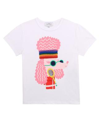 Organic cotton girls' T-shirt with poodle print THE MARC JACOBS