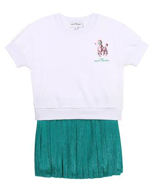 Girls' dress with short sleeves and poodle embroidery THE MARC JACOBS