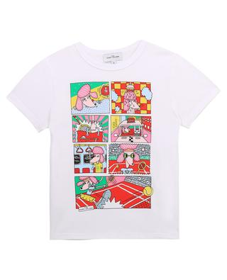 Poodle Day printed cotton T-shirt for girls THE MARC JACOBS