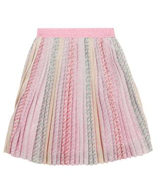 Girls' pleated skirt in glittering lurex knit THE MARC JACOBS