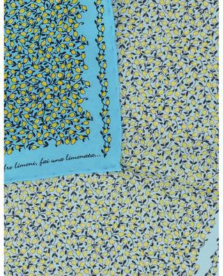 Lemon printed silk pocket square FEFE NAPOLI