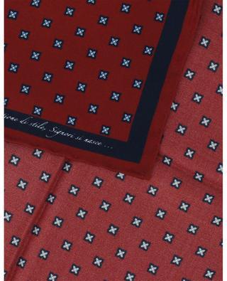 Pochette en soie imprimée fleurs FEFE NAPOLI