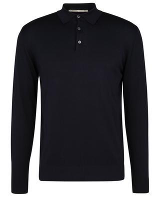 Long-sleeved silk and cotton knit polo shirt MAURIZIO BALDASSARI