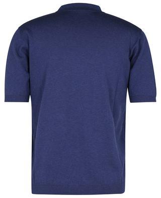 Short-sleeved silk and cotton knit polo shirt MAURIZIO BALDASSARI