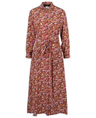 Robe chemise midi en soie fleurie Miss WEEKEND MAX MARA