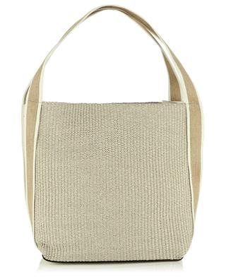 Asia straw and leather tote bag GIANNI CHIARINI