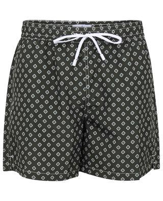 Polignano diamond pattern printed swim shorts GIAMPAOLO