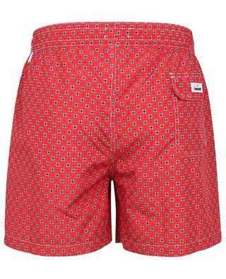 Polignano diamond pattern and polka dot printed swim shorts GIAMPAOLO