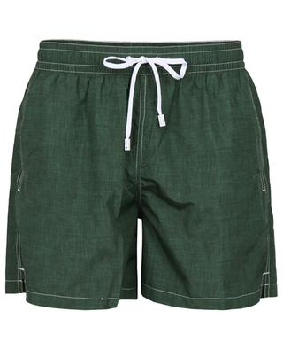 Polignano linen effect printed swim shorts GIAMPAOLO