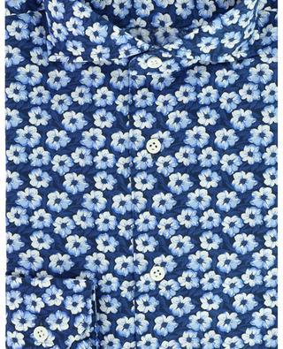Chemise en coton fin imprimée fleurs GIAMPAOLO